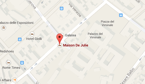 Mrs Julie Guest House Rome - Location